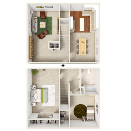 two bedroom townhome starting from 825